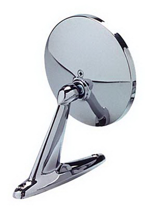 CIPA 17000 Universal Round Chrome Car Side Mirror Bright, 4.25 - inch