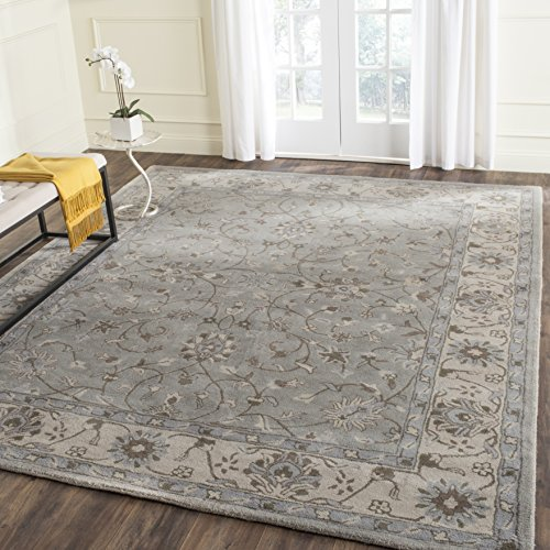 Safavieh Heritage Collection HG862A Handcrafted Traditional Oriental Beige and Grey Wool Area Rug (8' x 10') ()