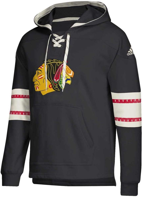 adidas Chicago Blackhawks Hoodie Pullover Vintage Jersey Hood