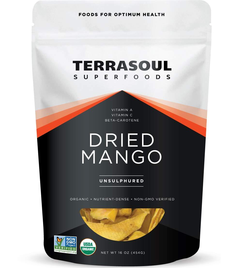 Terrasoul Superfoods Organic Mango Slices, 16 Ounce by Terrasoul Superfoods