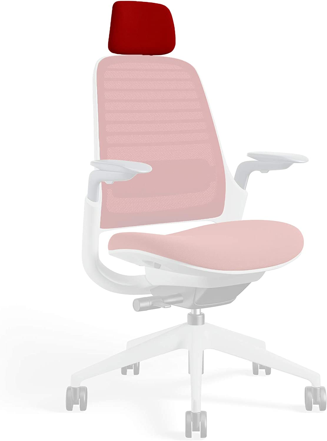 Headrest for Series 1 Task Chair by Steelcase | Seagull Frame, 3D Microknit Fabric | Add-On Part Only (Scarlet)