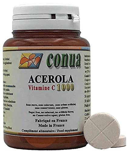 Vitamina C 1000 mg acerola natural divisible en 2 o 4 que contiene 250 mg 25