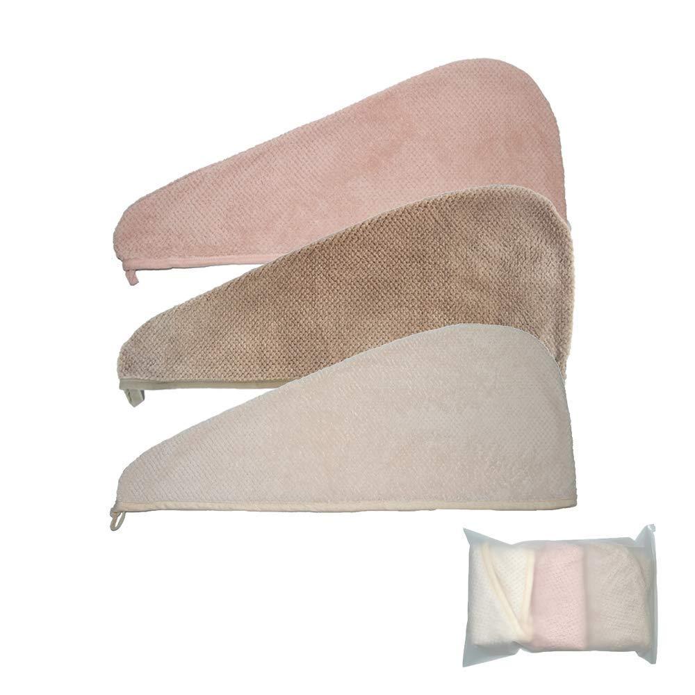 TourKing Toalla de Secado de Pelo botó n, Toalla de Microfibra para el Pelo para la Ducha de Secado rá pido, Gran Regalo para Las Mujeres Toalla de Microfibra para el Pelo para la Ducha de Secado rápido
