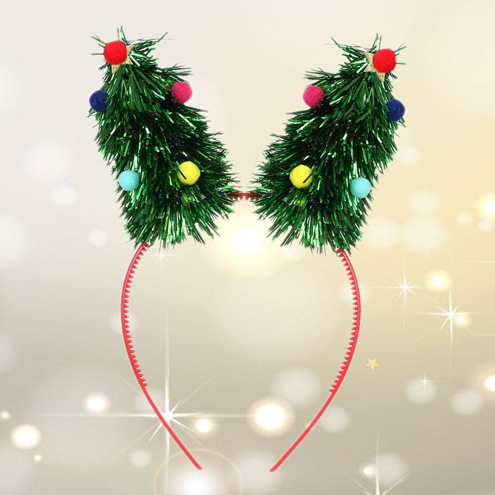 Amazon.com  Toyvian Christmas Headbands Xmas Tree Hair Bands Xmas Holiday  Party Hair Hoops Hair Accessory Party Supplies Gifts for Kids Adults  (Green)  Home ... 4b7996bce2e