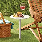 Hammacher Schlemmer The All Terrain Snack Table (White)