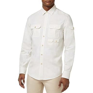 3d5ed7fce478 Sean John Mens Linen Blend Long Sleeves Button-Down Shirt at Amazon Men s  Clothing store