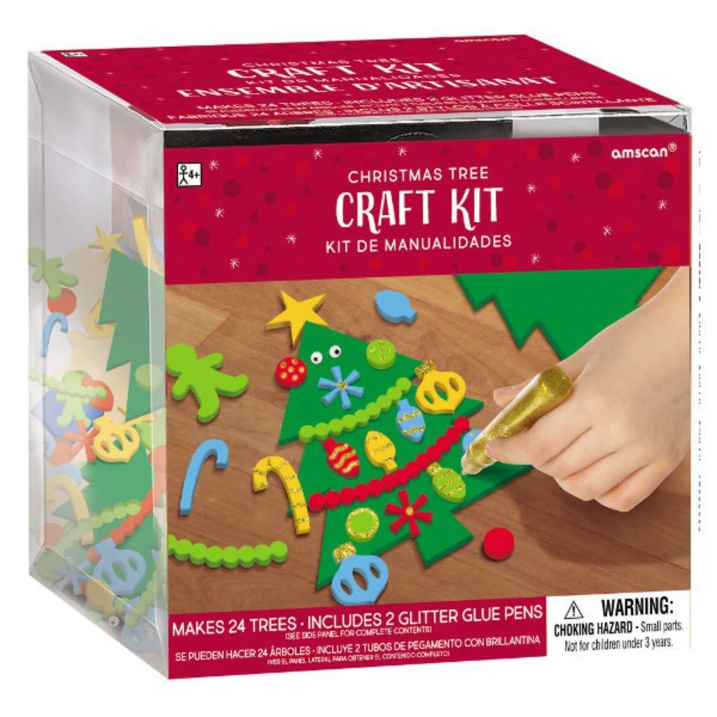 Amscan 3900450 craft kit Multicolored 4 1//2 x 3 Creates 24 Foam Snowmen per package