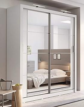 Armoire De Chambre Moderne Arthauss Avec Porte Coulissante, Couleur Blanche  Mate   180u0026nbsp;cm