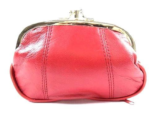 40f80a8746de9 Emporium Leather Damen Leder Clipverschluss Portemonnaie - Rot ...