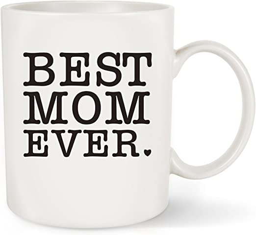 Pink Marble Coffee Cup with Gift Package Best Mom Ever Mug Christmas Presents for Mother Vilight Mom Gifts from Daughter and Son