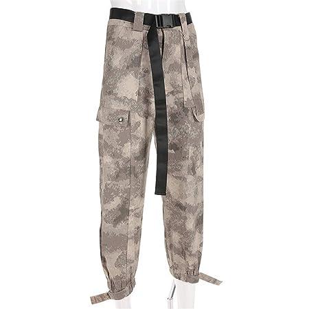 Pantalones de chándal Pantalón de carga con cintura alta para ...