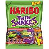 Haribo Twin Snakes Sweet & Sour Gummi Candy - NEW - (5 oz / 142g)