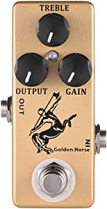 Overdrive Effect Pedal,MOSKY Golden Horse Guitar Full Metal Shell True Bypass
