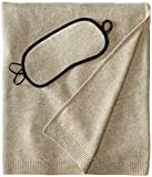 Cheap Sofia Cashmere 100% Cashmere Cozy Travel Set with Blanket, Eye Mask, and Bag, Heather Taupe, One Size