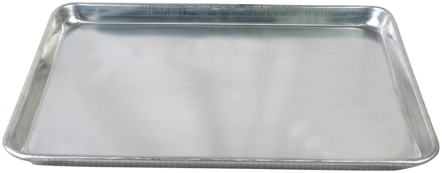 Tiger Chef Full Size Aluminum Sheet Pan - Commercial Bakery Equipment Cake Pans - NSF Approved 1 Dozen (12, 18'' x 26'' Full Size) by Tiger Chef (Image #2)