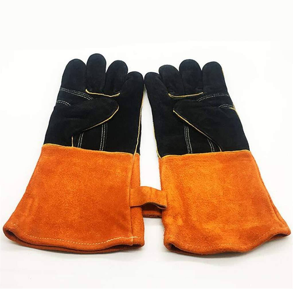 SPP PANDA BBQ Oven Microwave Oven Gloves High Temperature Resistant Electric Welding Kitchen Protection Labor Protection Glove Length 35cm by SPP PANDA