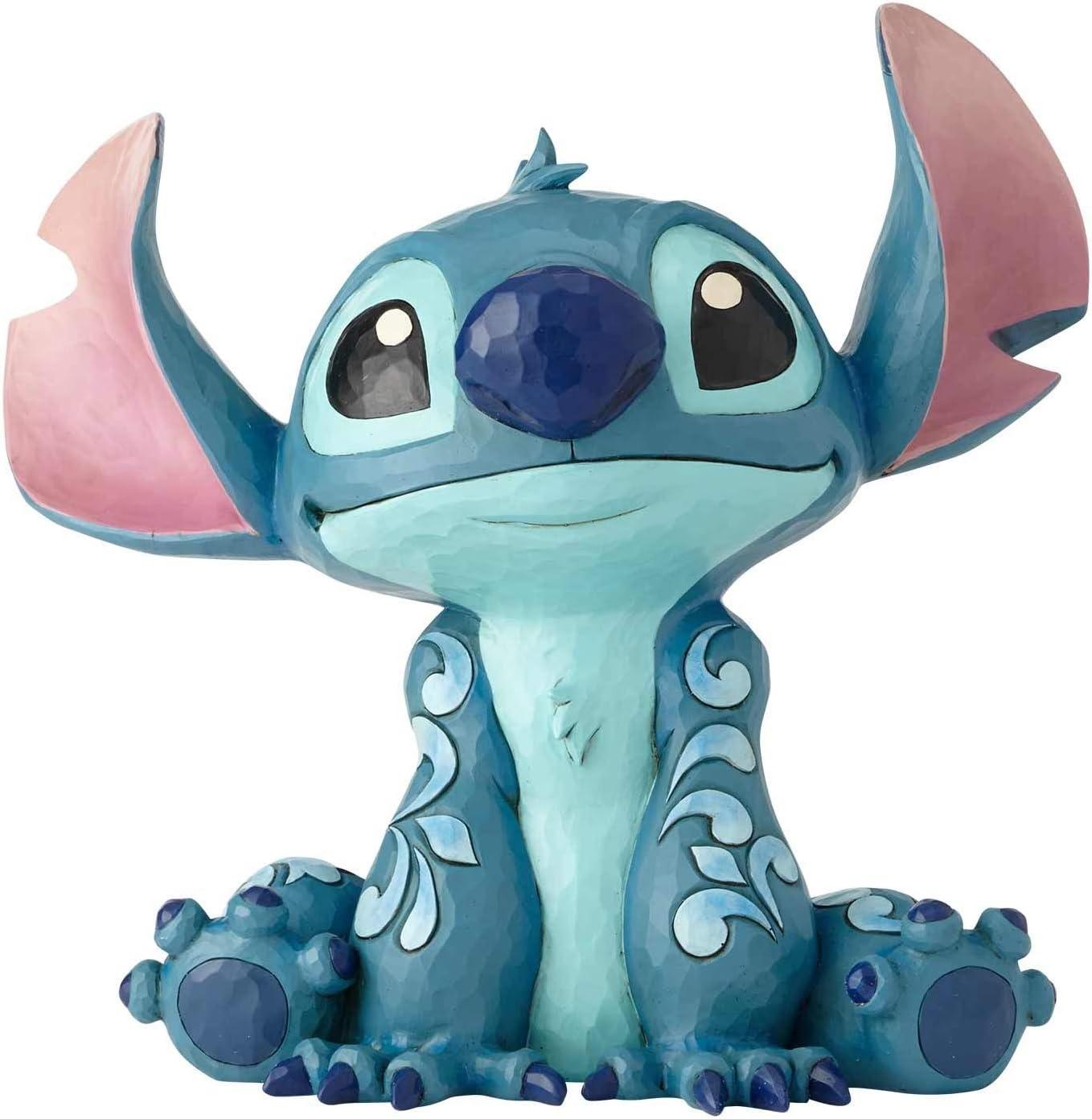 Enesco Disney Traditions by Jim Shore Lilo and Stich Big Trouble Figurine, 14 Inch, Blue