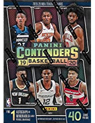 2019 2020 Panini Contenders Basketball Sealed Blaster Box of Packs chance for Retail EXCLUSIVE Green Shimmer and Winning Tickets Plus Zion Williamson and One AUTOGRAPH or MEMORABILIA Card
