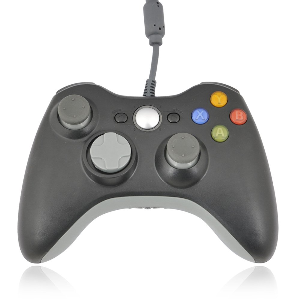 Amazon.com: Dragonpad Wired USB Controller (Black) for PC & Xbox 360 ...