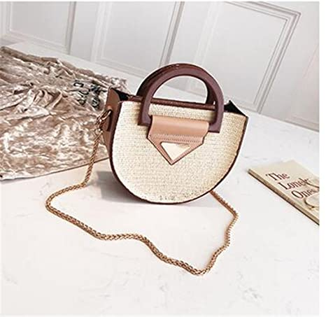 Amazon.com  Women Small Beach Bohemian Round Straw Bali Crossbody Hobo Bags  For Ladies Summer Panier Plage Shoulder Rattan Messenger Bags  Sports    Outdoors c60257105edbf