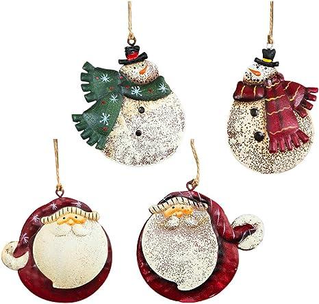Christbaum Schmuck Anhänger aus Holz Weihnachtsbaum Weihnachten Deko Schneemann