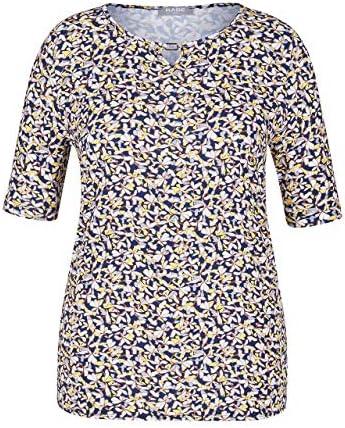Rabe damska koszulka z nadrukiem kwiatowym i spinką: Odzież
