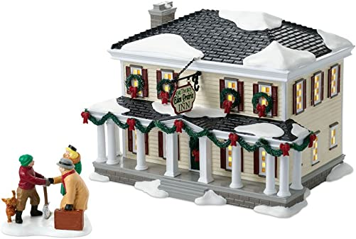 Department 56 The Snow Village Annual Celebrate The Holiday Eden Prairie Inn Lit House and Figurine Set