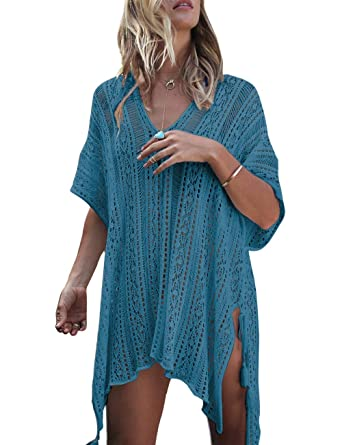 9f8a76a6c19dd HITSAN INCORPORATION Beach Cover up Black Swimsuit Tunic Crochet Robe de  Plage Pareos for Women Swim