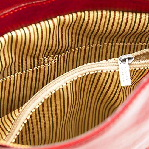 Testa Rosso a Tuscany pelle Patty zaino di Moro donna Borsa Leather in convertibile 776q4xCz
