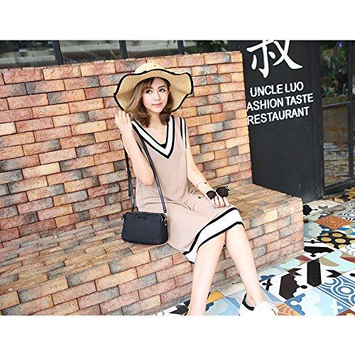 Shoulder Cell Crossbody Purses Women Nylon Small Phone Three Black Bags Purse Layers 8w8qEx6gZ
