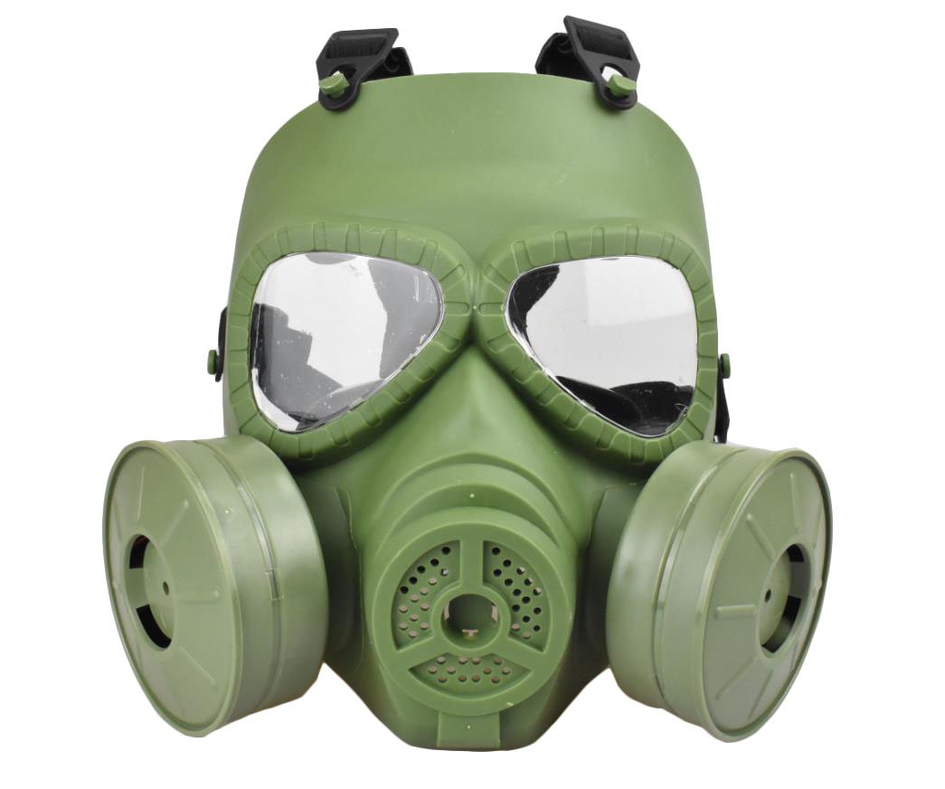 Jadedragon Tactical Paintball mask Full Face Eye Protection PC Skeleton Mask with Double Filter Fan for Cosplay Protection Zombie Soldiers Halloween (Green) by Jadedragon