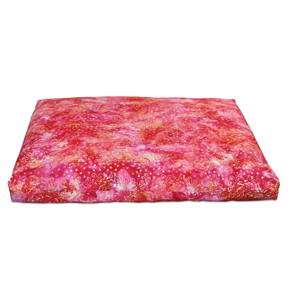 DharmaCrafts Joyful Yogi Batik ZZSet - Zafu and Zabuton Meditation Cushions - Yoga Pillows (Bali Rose) by DharmaCrafts (Image #2)
