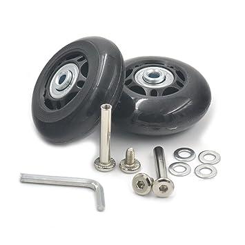 fujiyuan 1 par 63 mmx22 mm viaje equipaje maleta trolley rueda piezas resistente llave de repuesto para maletas ejes reparaciones: Amazon.es: Deportes y ...