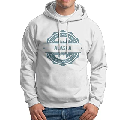 X-JUSEN Men's Alaska Hoodies Hooded Sweatshirt Pullover Sweater, Crew Neck Hooded Bodysuits Tops