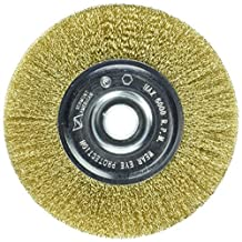 Vermont American 16800 5-Inch Fine Brass Wire Wheel Brush with 1/4-Inch Hex Shank for Drill by Vermont American