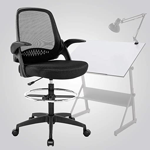 SuccessfulHome Mid Back Mesh Office Chair with Adjustable Armrest Lumbar Support, Computer Adjustable Swivel Rolling Home Tall Office Chair, Ergonomic Office Chair