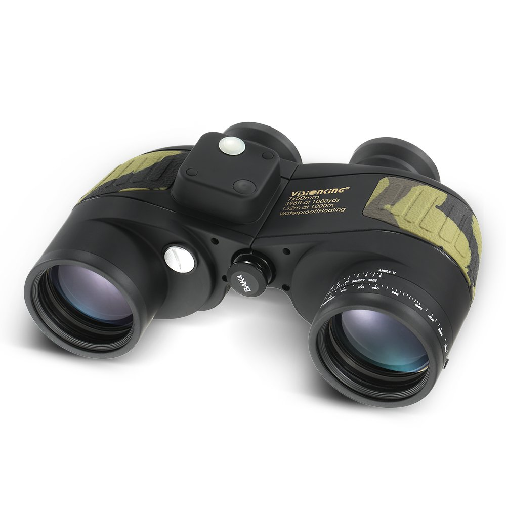 Lixada 7 x 50 High Powered防水Fogproof Marine双眼鏡with内部距離計コンパスforナビゲーションBoating釣り水スポーツ B072XNWY3S