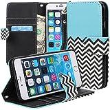 iPhone 6s plus/ 6 Plus case, iPhone 6s plus/ 6 Plus Flip Case, E LV Apple iPhone 6s plus/ 6 Plus Case Cover - PU Leather Flip Folio Wallet Case Cover for Apple iPhone 6s plus/ 6 Plus - ZIGZAG