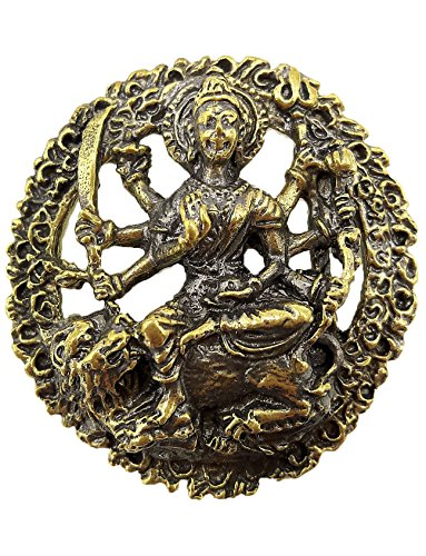 maa-durga-uma-devi-parvati-hindu-goddess-brass-pendant-with-rope-necklace-life-protection-thailand