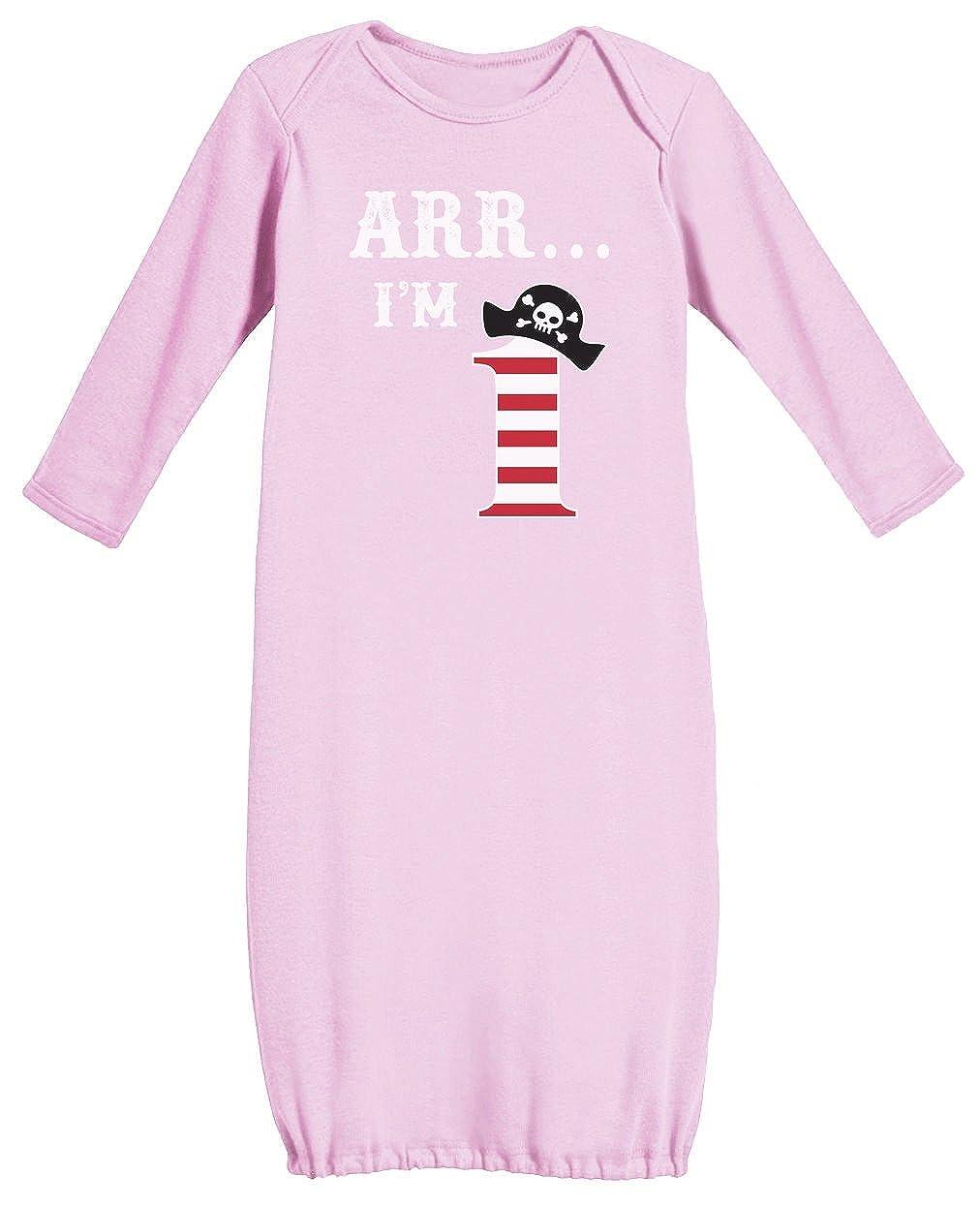 沸騰ブラドン Arr私は1 ピンク – Pirate誕生日パーティーギフト1年の赤ちゃん用長袖ガウン Newborn Newborn ピンク Arr私は1 B01DPGLE1Y, 総合商社チャンピオン:1bc2eb00 --- a0267596.xsph.ru