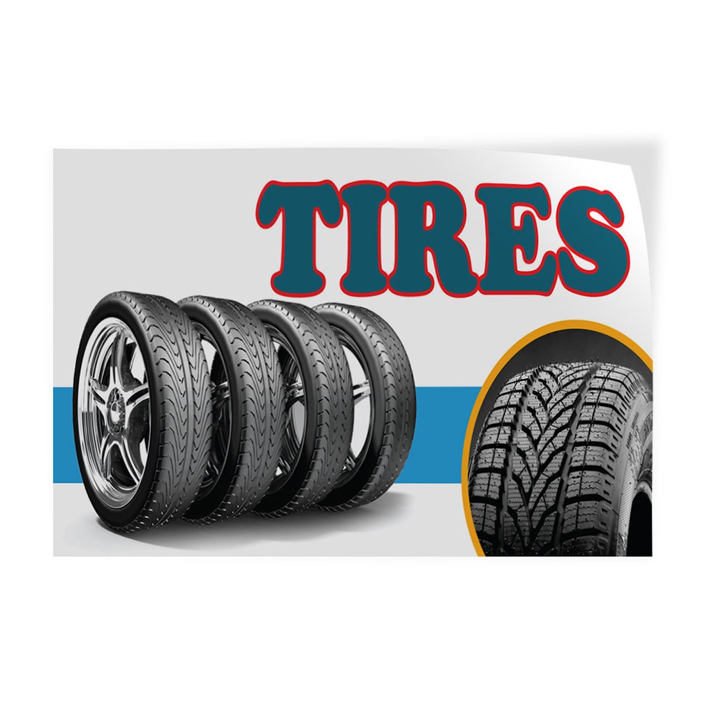 Decal Sticker Multiple Sizes Tires #1 Style G Automotive Used Tires Outdoor Store Sign White One Sticker 69inx46in