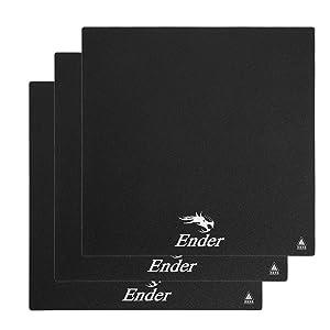 Creality Original 3pcs Heat Bed Platform Sticker Sheet, Hot Bed Build Surface Tape 235x235mm for 3D Printer Creality Ender 3 Ender 3X