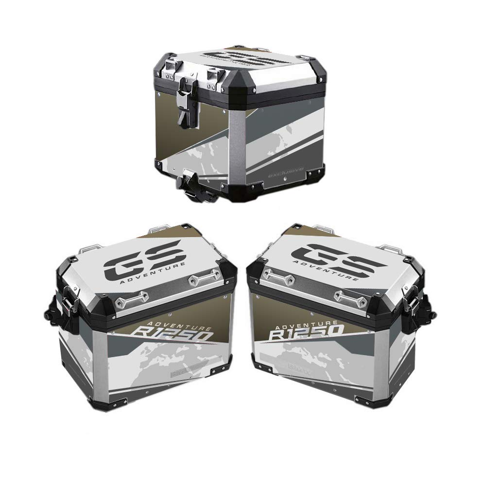 Kit 2 PROTECCI/ÓN Adhesiva Bolsas DE Suitcase ALU 2/° Modello R 1250 GS Adventure VA2-R1250GSADV HP