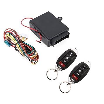 Asiright - Kit de alarma de coche con mando a distancia y ...