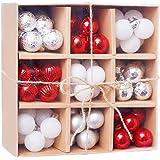 FEIlei Ornamentos de árvore de Natal, 1 caixa de 3 cm/99 peças de bolas de Natal ornamentos de festa de Natal decoração de ár
