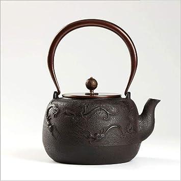 QINCH Home Tetera Japonesa de Hierro Fundido Tetsubin Tetera, Estufa de cerámica eléctrica, Olla