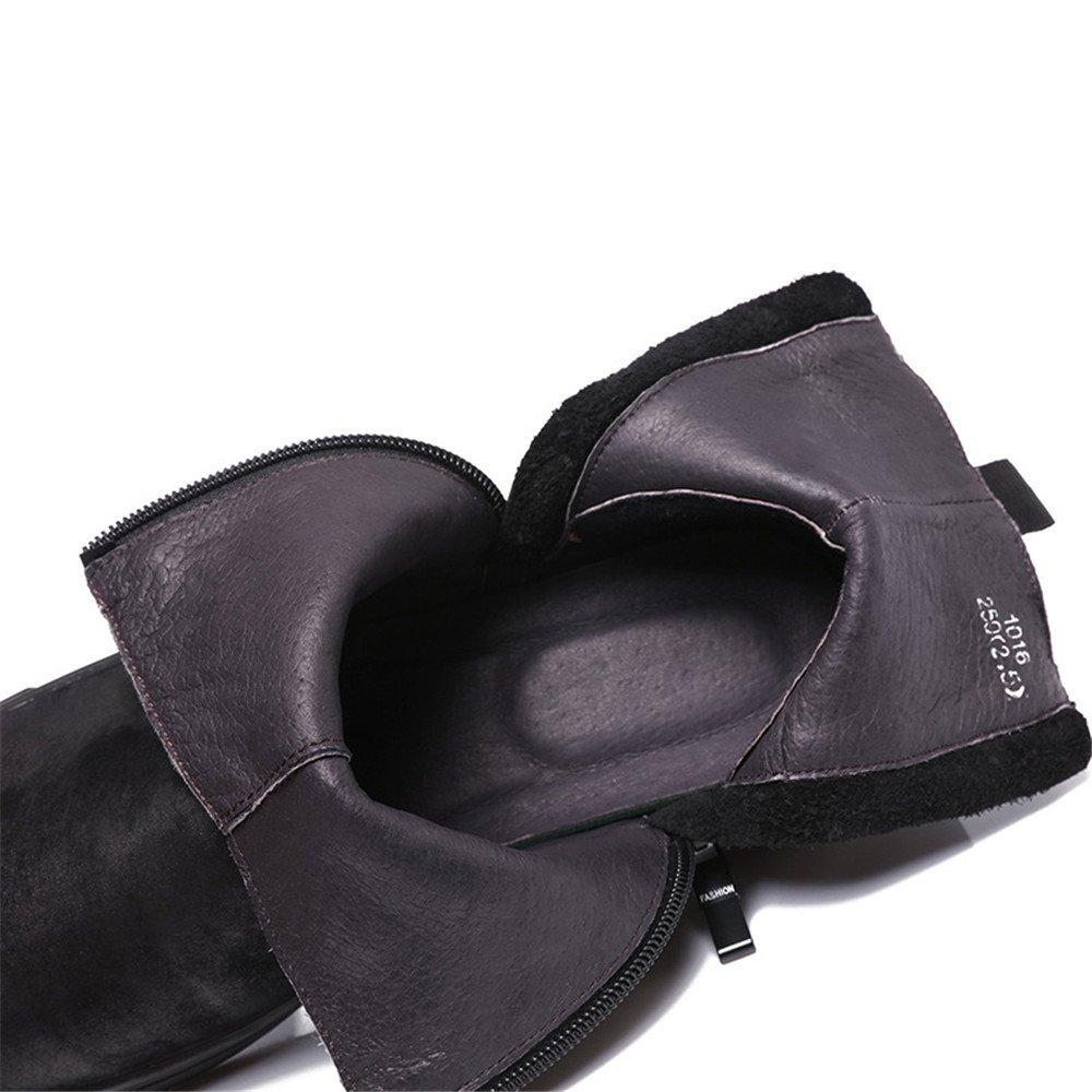 Männer martin stiefel lange zylinder stiefel mens warme martin runde leder warme mens stiefel.,schwarz,40 4553be
