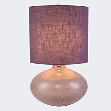 YLT-NYQ Lámpara de Mesa de Cristal Violeta - Lámpara de Mesa ...
