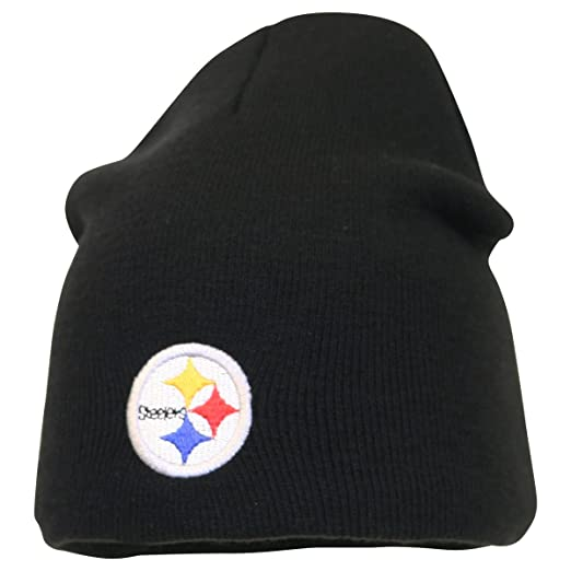Amazon.com   Pittsburgh Steelers Classic Knit Beanie   Sports Fan Beanies    Clothing f32f092bb52