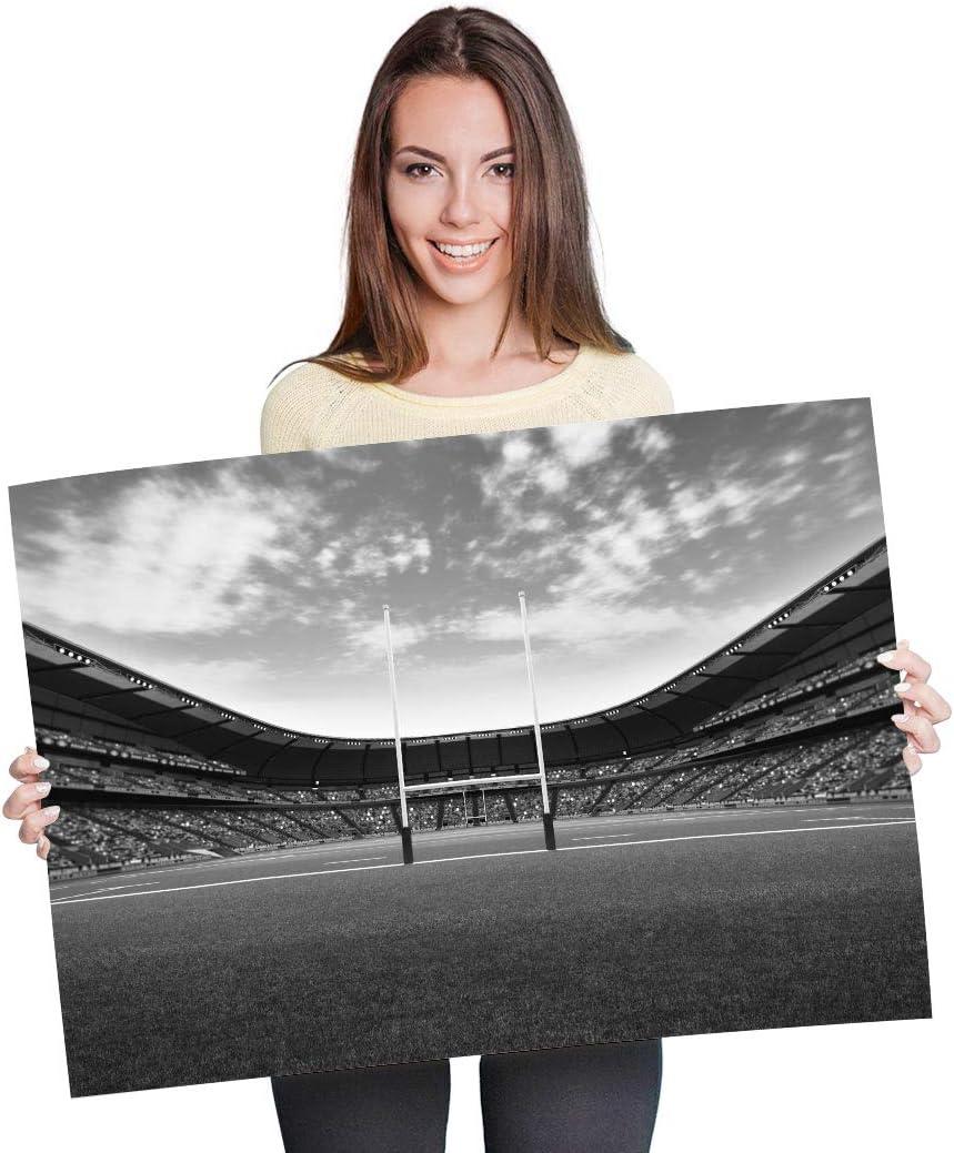 P/óster de vinilo de Destination A1 Rugby Pitch RFC Stadium Art Print 90 x 60 cm papel fotogr/áfico satinado brillante #37284 180 g//m/²